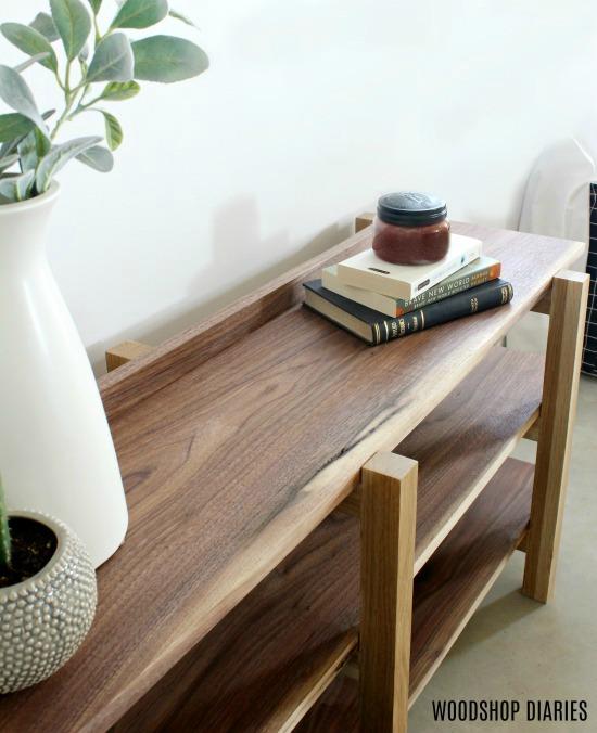 Walnut and White Oak DIY Modern Shelf