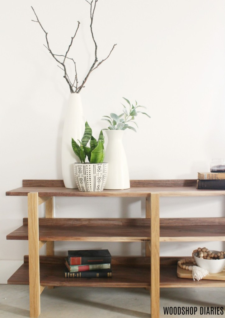 How to Build a DIY Stacked Bookshelf Console Table