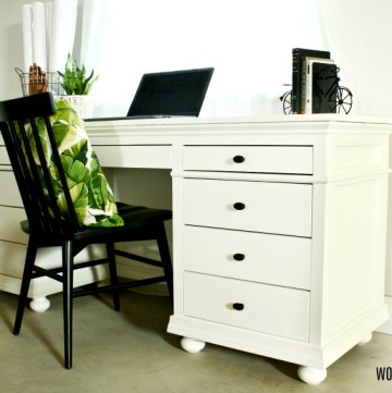 DIY Storage Desk with 9 Drawers