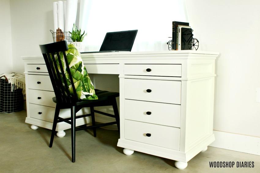 DIY Storage Desk with 9 Drawers