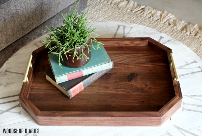 How to make a DIY serving Tray with brass handles