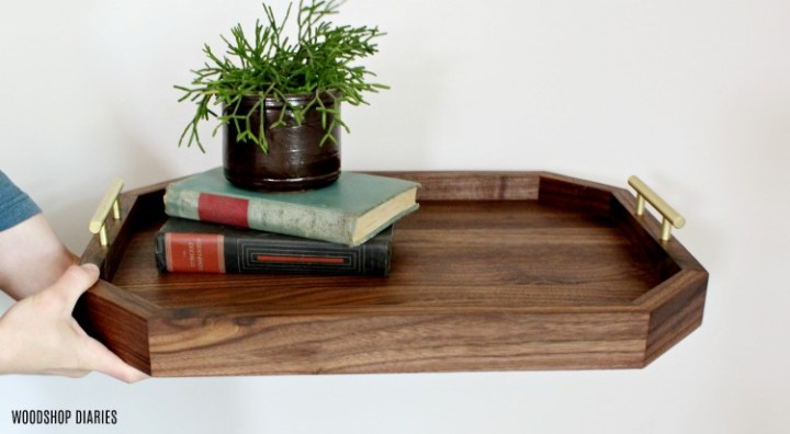 DIY Modern Wooden Serving Tray Plans
