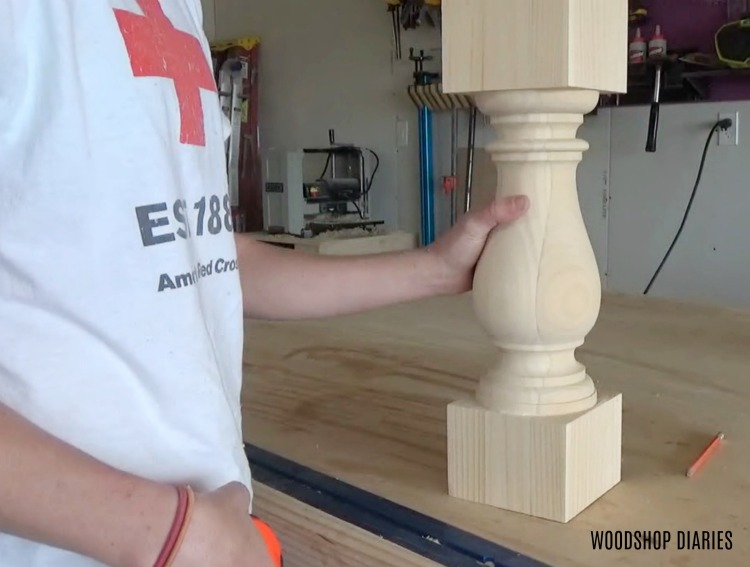 DIY Round Pedestal Coffee Table Leg