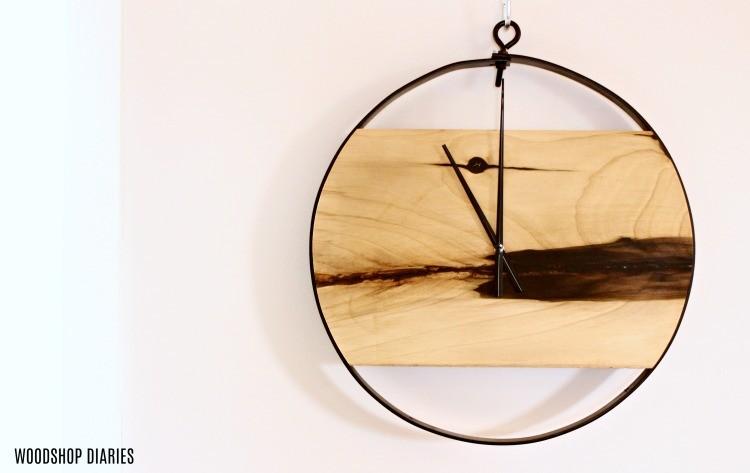 How To Make A Diy Wood Metal Wall Clock
