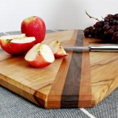 up close chamfer edge on cutting board