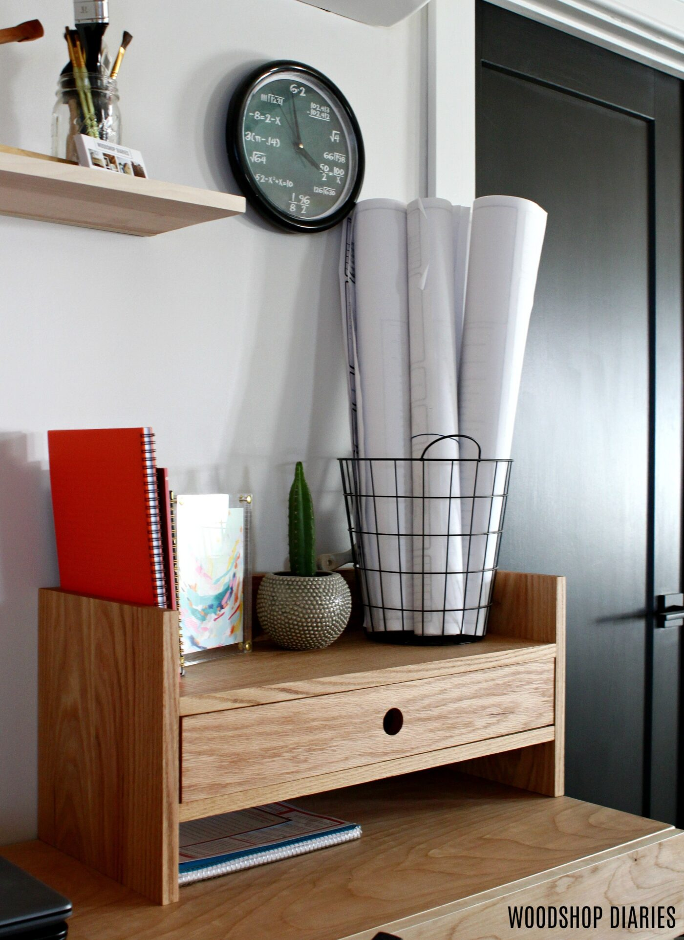 DIY Desk Organizer with Drawer Large Field of View