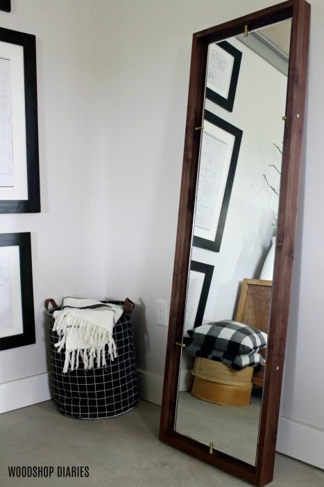 Diy Modern Floating Floor Mirror Diy Tutorial And Video