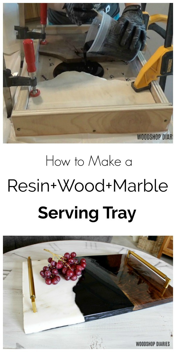 DIY Resin Tray Pinterest Collage