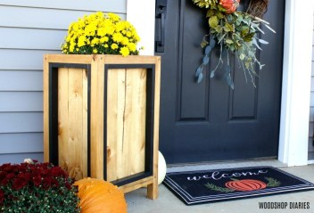 Black and Wood Planter