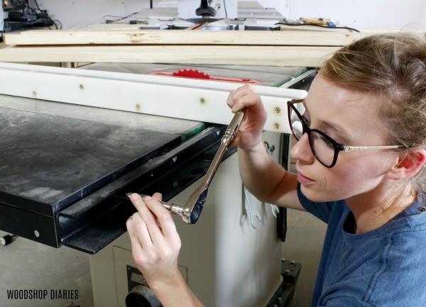 Workshop Maintenance on table saw
