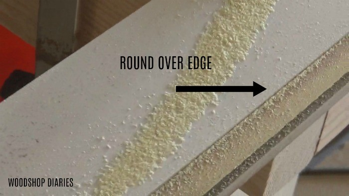 Round over routed edge
