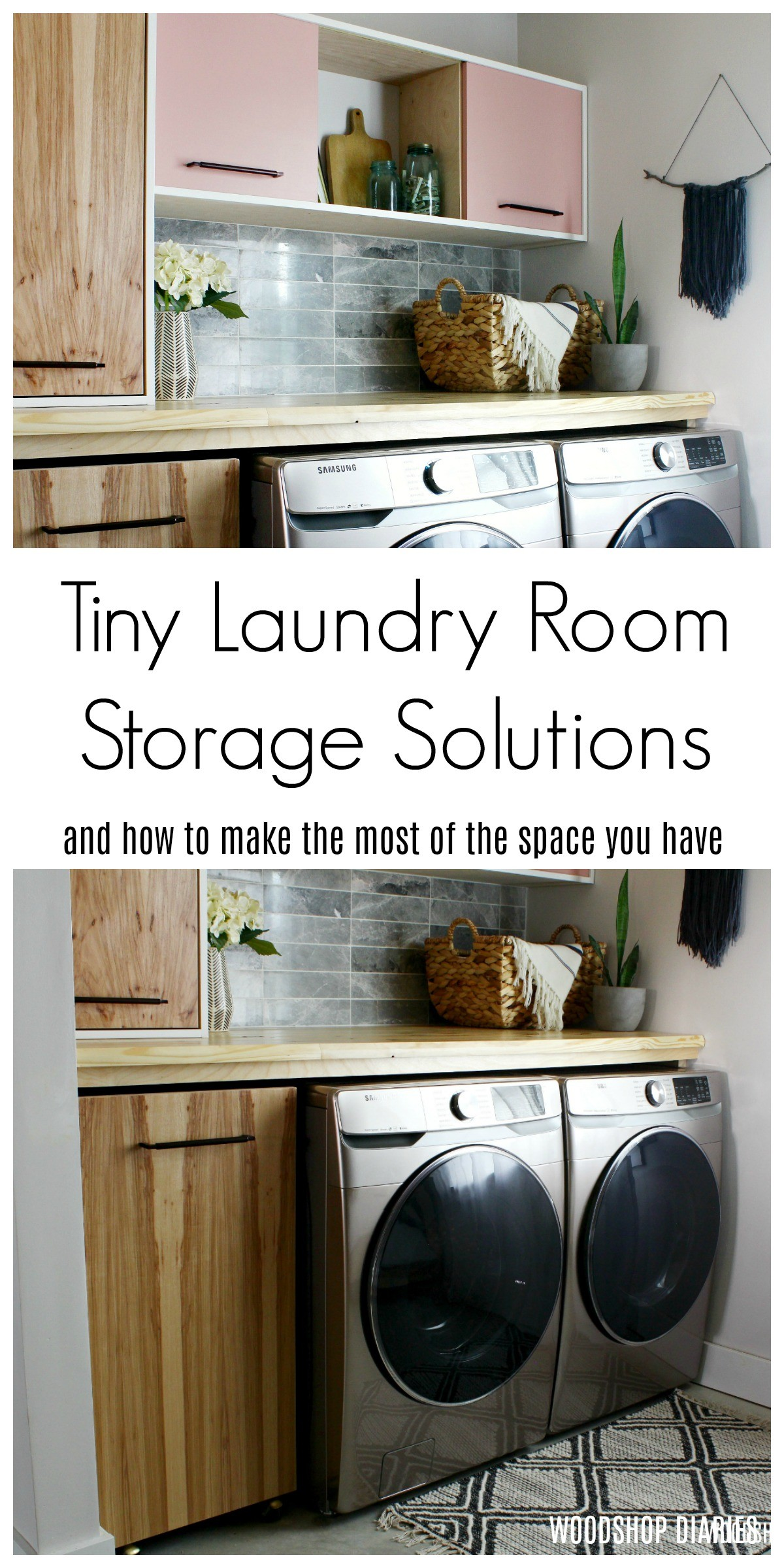 How to make the most of your small laundry room and creative small laundry room storage solutions!