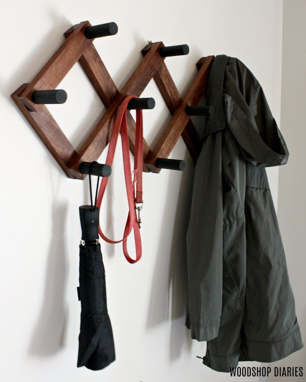 DIY Accordion Coat Rack as a Summer Umbrella and Jacket Hanger