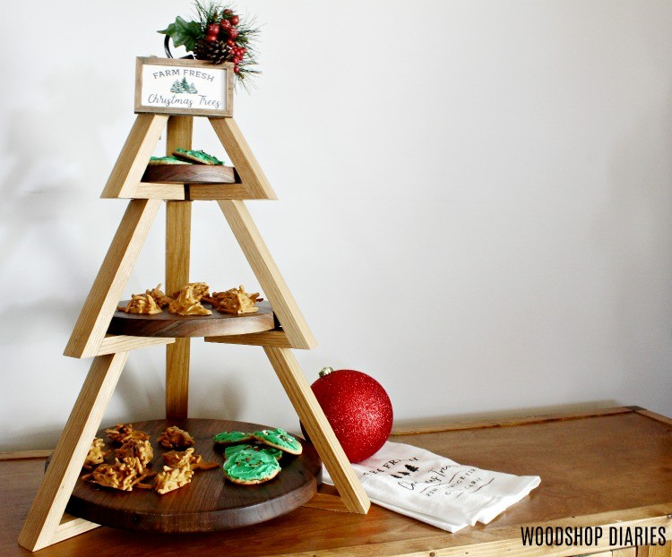DIY 3 Tier Plate Stand Christmas Tree Shape