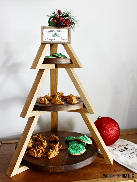Christmas Tree shaped tiered plate stand
