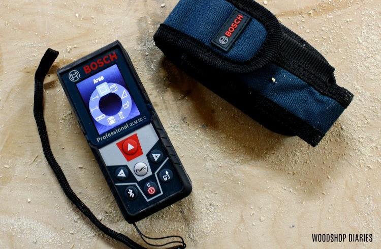 Bosch Blaze Laser Distance Measurer area funtion on screen