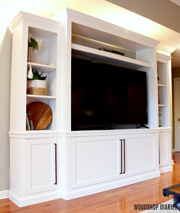 DIY Entertainment center in living room