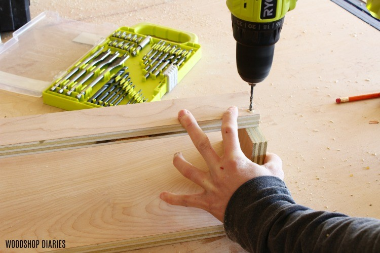 Predrill holes for screws to assemble DIY clamp rack