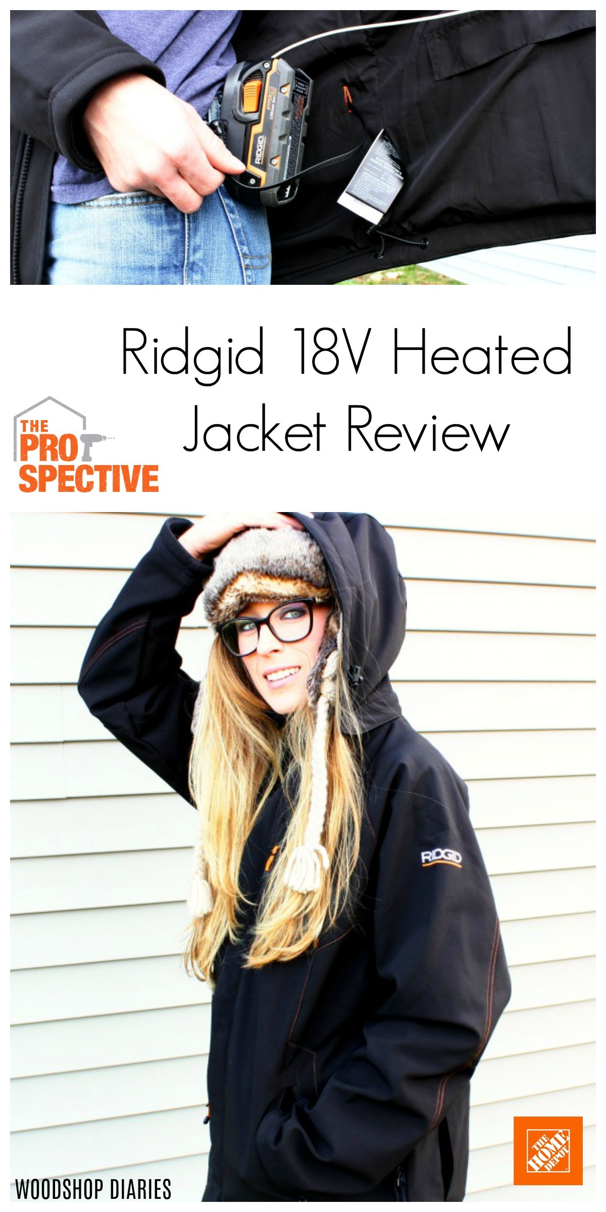 Ridgid 18V Battery Powered Heated Jacket Review Pin Image