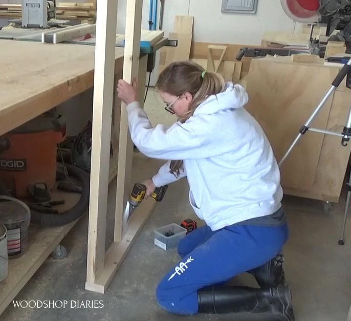 Assembling house bed frame side panels
