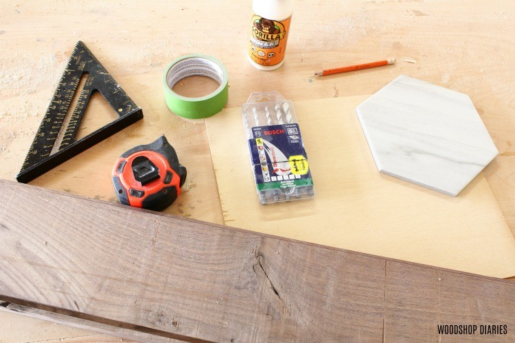 materials needed to create keepsake box