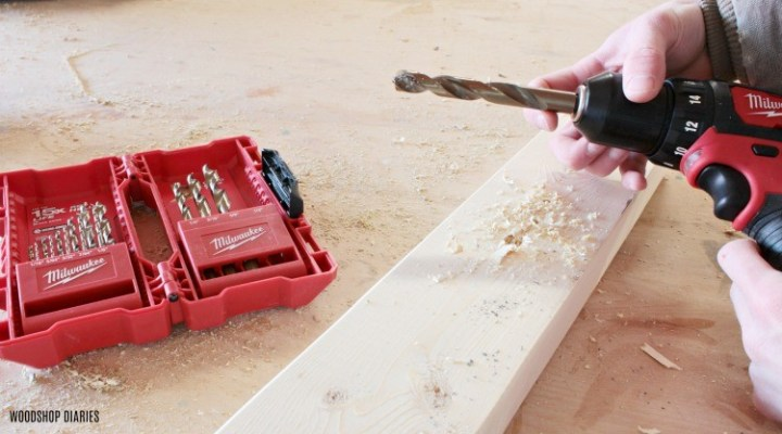General purpose drill bits used in battery powered drill--gift ideas for new homeowners