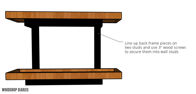 How to attach wall shelf to studs without brackets