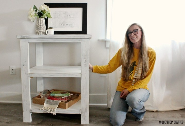 Shara Woodshop Diaries with DIY coffee bar table