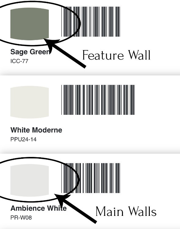 Behr paint color choices for main and feature walls