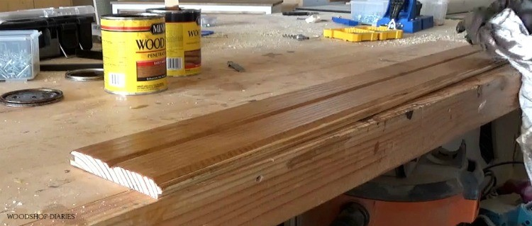 staining v groove boards with minwax early american wood stain
