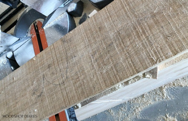 rough sawn board used to make serving tray board