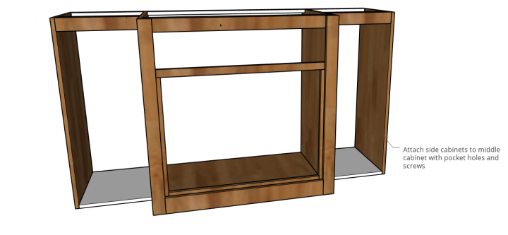 Side cabinets attached to dog crate