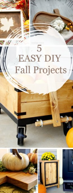 5 Easy DIY fall Projects pinterest collage image