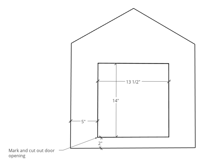 dimensions for door opening cut out
