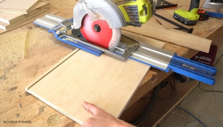 Using AccuCut and Circular saw to cut dado for filing cabinet rails
