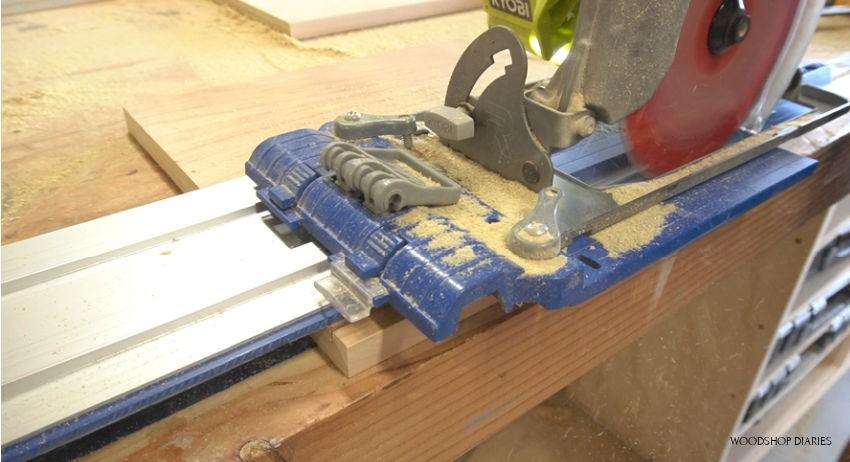 Using circular saw to cut dadoes