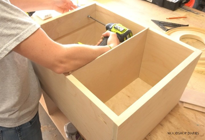 Using Ryobi ONE+ HP Driver to install filing cabinet drawer rails