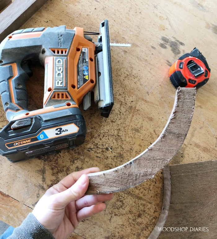 First curve cut out with jig saw