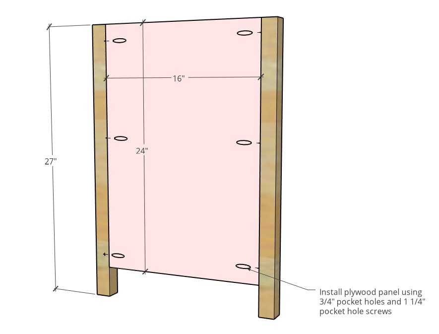 Side panel diagram of assembly dimensions