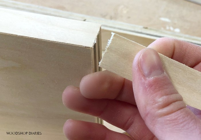 Clean break on plywood edge banding end