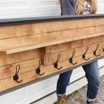 DIY Coat Rack With Shelf