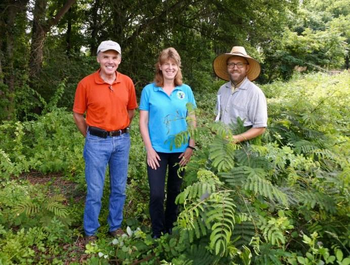 SCEPPC President, Bill Steele; Greenville County Soil & Water Conservation District Manager, Kirsten Robertson; WCF Farm Manager, Jason Schmidt
