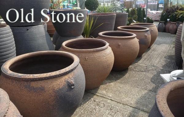 Tall Stone Planters