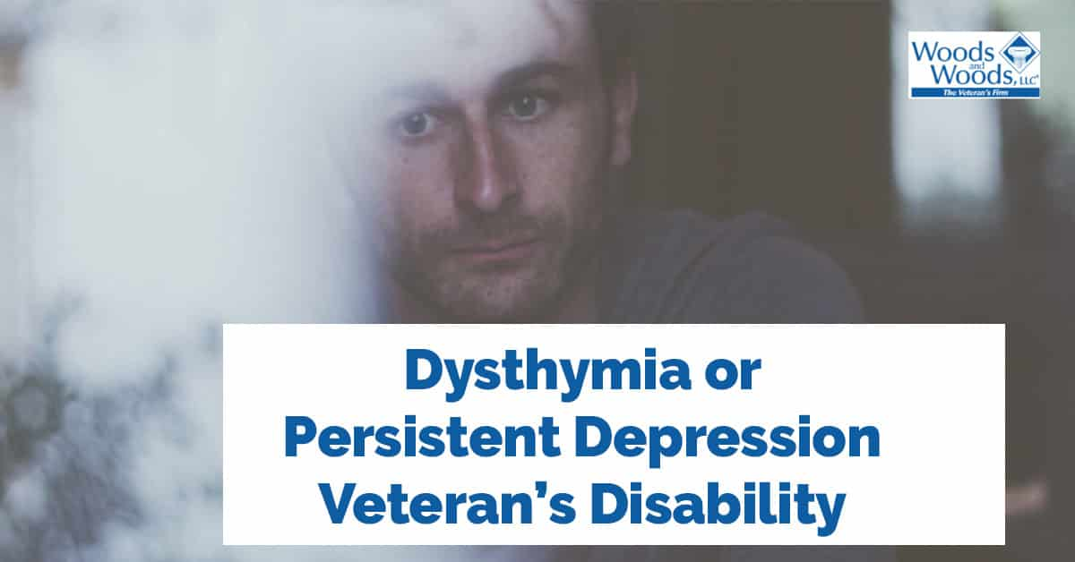 Dysthymia, or Persistent Depressive Disorder VA Rating and ...