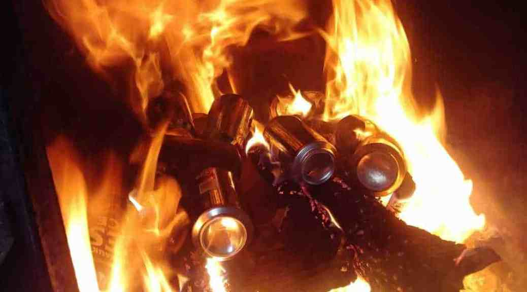 Burning Aluminum Cans To Clean Chimney