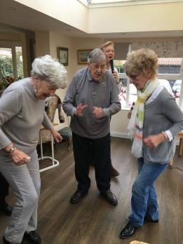 Betty, Ken and Tricia on the dancefloor