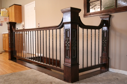 Newel Post Height Calculating Handrail Newel Post Height | Installing Newel Post And Spindles | Stair Parts | Staircase | Stair Banister | Iron Stair | Wrought Iron Spindles