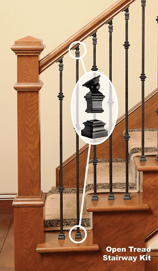 How To Install Iron Balusters Installing Metal Spindles Part 3   Installing Wrought Iron Balusters   Staircase   Stair Treads   Stair Parts   Iron Stair Spindles   Wood