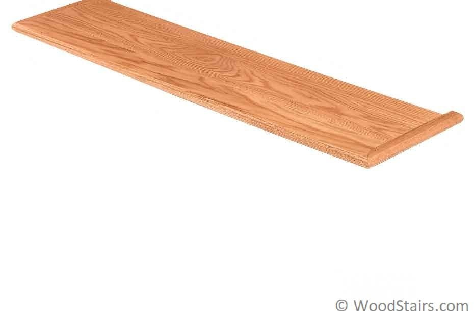 Solid Stair Treads Custom Wood Stair Treads Lj 8070   Brazilian Cherry Stair Treads   Box   Walnut   Mahogany   Stained   Finished