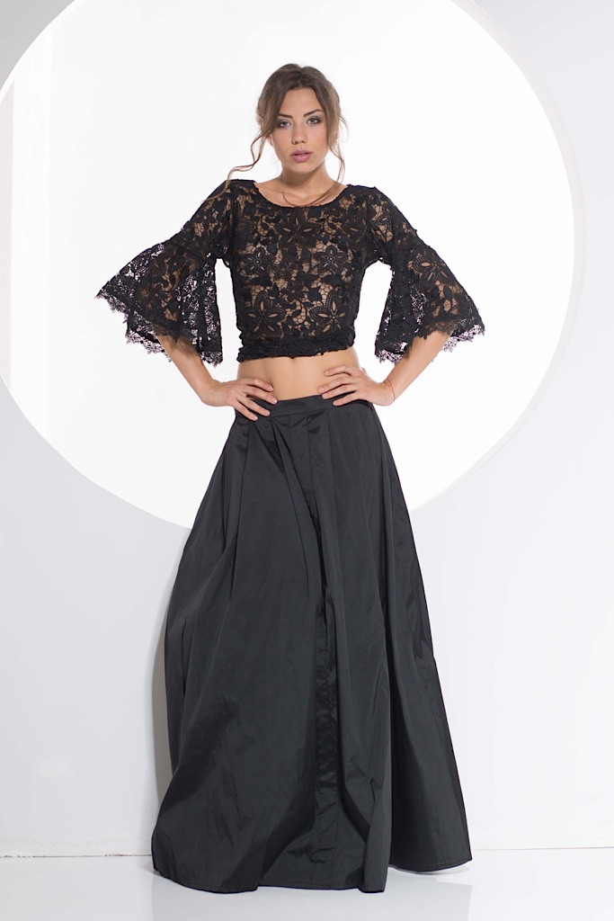 Guipure Top & Tafta Skirt